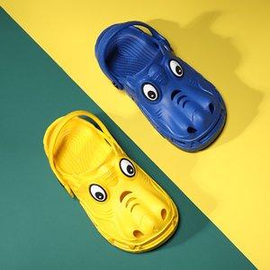 Boys and Girls Summer Fashion Children's Monster Shape Cartoon Cave Shoes Antiskid Baby Slippers Beach Flip Flops Kids