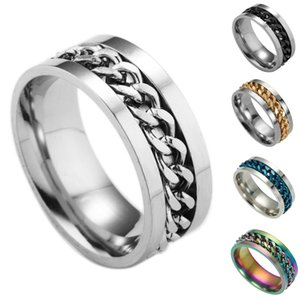 Valentine'S Day Gift- Mixed Order Dropshipping Stainless Steel Rings Mens Ring Chain And Tyre Design Rings Jewelries Factory Supplier 016 #62
