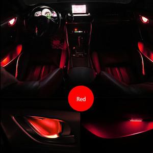 MAXUP 4pcs Universal-LED Automotive Interieur Innenschale Atmosphäre Beleuchtung Lampe Autotür Armlehne Schließfach Umgebungsinnenbeleuchtung