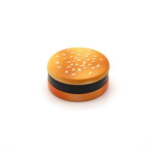 Горячая оптовая продажа 55mm Бесплатной доставки 3 частей Hamburger металл Grinder цинкового сплав Материал Табак Grinder Дым сигареты сухой трава Grinder
