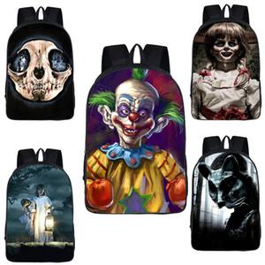 أكتاف الطلبة الإبداعية حقيبة الظهر 25 تصميم الرعب سلسلة بوي بنات عالية الجودة حقيبة الظهر للأطفال هالوين شولدرز حقيبة الاطفال المدرسية 06