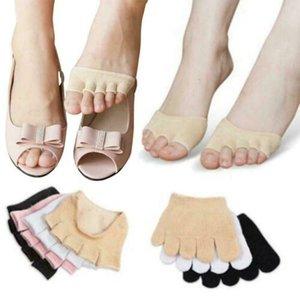 1 Çifti Beşparmak Ayak Çorap Kadınlar Kızlar Düşük Kesim No Show Görünmez Ayak bileği Çorap Dayanıklı Toeless Bilek Tutma Pilates