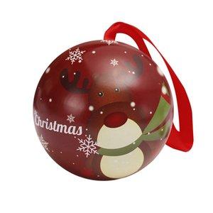 Bonbons Boîte de rangement Accessoires cadeau Fée Boule Party Decoration Arbre d'impression Hanging Noël avec le ruban délicat non toxique