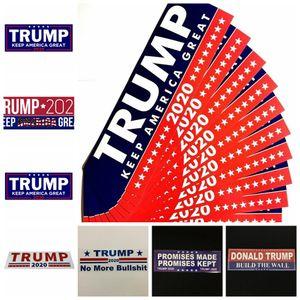 Trump pegatinas de coche 13 estilos 76 * 23 mm Keep Make America Great Again Donald Trump Stickers Pegatina para parachoques Artículos de la novedad 10 unids / set OOA6901