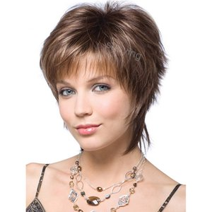 None lace hair wigs for white back women short wig full machine made new arrival fashion style wigs ship immediately