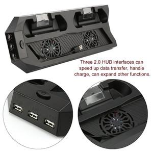 YH09 carga de refrigeração Bracket Perfeito para PS4 host e Handle Moda de refrigeração carregamento Base Dock Suporte Vertical refrigerador com ventilador