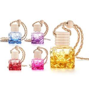 NEW Colorful square portable mini glass bottle perfume bottle thick empty bottle car modern decoration Homeware T2I51136