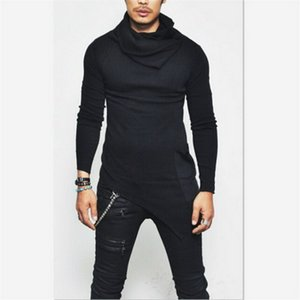 2019 gym New Fashion Sports Trend Spring and Autumn Blockbuster Long Sleeve Slim Men's Top in Europe and America