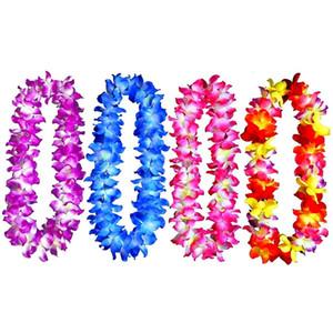 4Pcs Blumenhalskette Leis für Partybedarf Bevorzugungen Feste und Dekorationen Blumenkranz-Tropical-Party Favor Hochzeit