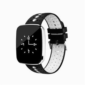V6 Smart Watch Blutdruck-Puls-Monitor-Tracker intelligente Armbanduhr IP67 Bluetooth Wettervorhersage Smart-Armband für iPhone und Android