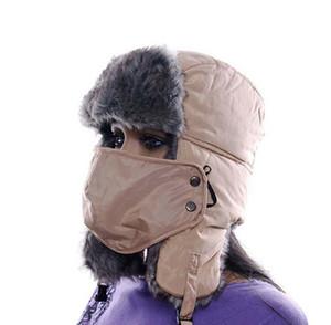 Zhongmei invierno sombrero máscara Feng, tanto para hombres y mujeres versión coreana de la engrosada del casquillo del oído del sombrero de esquí sombrero de invierno al aire libre de la MAO MAO