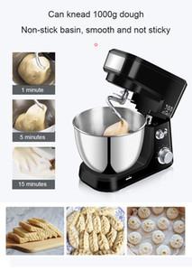 4L Paslanmaz çelik kazan Elektrikli Standı Gıda Karıştırıcı Krem Blender Yoğurmak Hamur Kek Ekmek Chef Makinesi Çırpma Yumurta çırpıcı