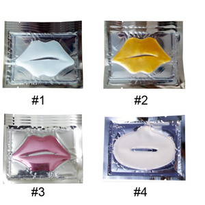 Pink Blanco Máscaras de labios Gold Crystal Colágeno Mujer Mascarilla Hidratante Cuidado de labios Cosmetic Patch Pad Gel