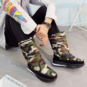 Designer-ots Soft Plush Male Non-slip Waterproof Warm Fur Shoes Boots Plus 38-47 QET803