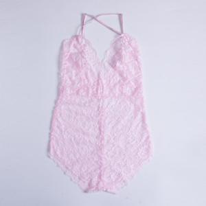New Lingerie Womens Lace Bodysuits Nightwear Badydoll Sleepwear Sexy Women Underwear Bodysuits Plus Size S-2XL