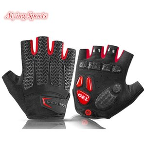 Aiying Sports Touch Screen Cycling Bike Gloves Autumn Spring MTB Bike Bicycle Gloves GEL Pad Shockproof Half Finger Mittens Gloves