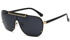 2020 medusa de lujo gafas de sol de metal de gran tamaño para hombre del diseñador del marco cuadrado de la marca gafas de oro recubierto de material de lente de gafas anti-UV400