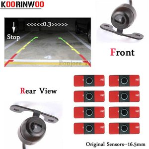 Koorinwoo 2019 Parktronic Hd Ccd Car Parking Sensors Front Camera Rear View Camera Backup Digital Show Distance Black  Grey  White