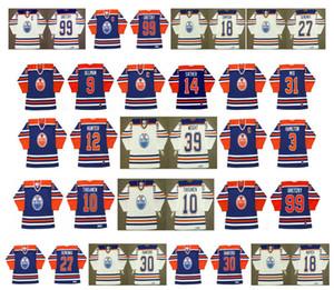 Edmonton Oilers Vintage Jersey 10 Esa Tikkanen 9 ULLMAN 14 GLEN SATHER 1 EDDIE MIO 12 DAVE HUNTER 3 AL HAMILTON 39 DOUG PESO CCM Hóquei