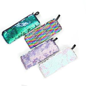 Mermaid Pullu Saklama Çantası Öğrenci Kalem Kutusu Kırtasiye Değişim Paketi Kadın Makyaj Wrap Renkli Fermuar Taşınabilir 2 6 sm C1