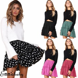 2019 New Summer Women Casual Pleated Ladies Belted Pleated Mini Casual Flared Party Skirts