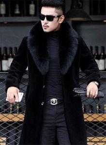 20fw hombres mens 코트 자켓 두꺼운 따뜻한 긴 디자이너 윈드 브레이커 블렌드 겉옷 양모 검은 겨울 코트 qxwob