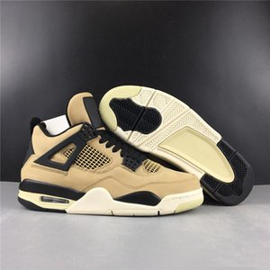 Top quality New 4 IV Mushroom MEN low Basketball Shoes 4s BROWN sneakers sports outdoor trainers SIZE 7-13