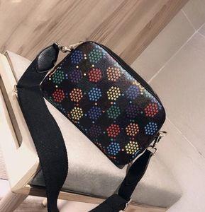 New Classic Popping Candy Bunte Bucket Beutel Echtes Leder-Frauen-Hand Echtes Leder-Geldbeutel Crossbody Schulter Messenger Bag
