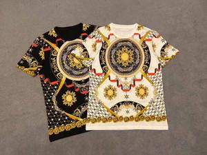 Luxo Medusa T-shirt respirável moda do monograma impresso T-shirt de verão homens e mulheres casuais simples rua manga curta M-3XL