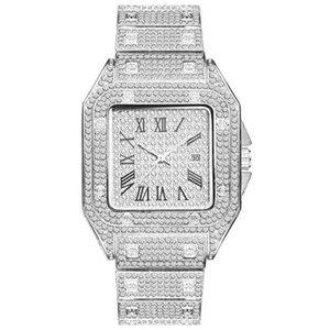 Vendita di modo della vigilanza degli uomini di alta qualità ghiacciato Shinning diamante Guarda completo Out Orologi in acciaio inossidabile Movimento al quarzo partito Sport orologio da polso