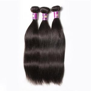 Malezya bakire saç düz demetleri 6A malezya remy örgüleri 100 g / strand lot başına 6 Demetleri işlenmemiş remy işlenmemiş saç uzantıları