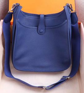 Kadın Bayanlar Debriyaj Çantalar Klasik Evelyn Dana derisi H Togo Gerçek Deri Üst Kalite Tasarımcı çanta Hollow Out Messenger Omuz