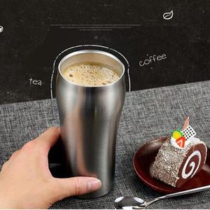 De vacío de acero inoxidable 50pcs 430 ml Vaso de cerveza taza grande de doble pared de acero inoxidable de la cerveza taza de la taza de café aislada Recipientes