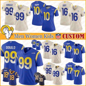 Aaron 99 Donald Los Custom Men Women Kids New Football Jerseys Angeles