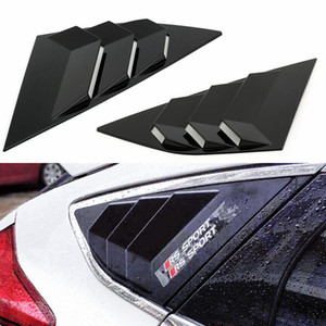 Car Styling Window Side Louvers Vent Window Modification Louvers ABS Scoop Cover Vent Decorazione per Ford Focus ST RS 2013-18