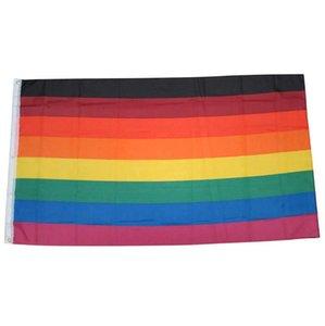 150x90cm 3x5ft Custom Rainbow Philadelphia Popular Indoor Promoção Drop Shipping, Free Publicidade Bandeira Bandeira Uso, Transporte ao ar livre BXMX
