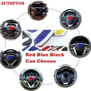 Red Car Refit Steering Wheel Badge Emblem Nameplate Decal Sticker For Honda Civic Accord CR-V CRV Odyssey Fit City XR-V HR-V UR-V Pilot