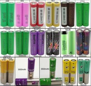Alto Consumo IMR 30A 18650 Vape batería 3500mAh 3.7V baterías recargables de litio de latón nudillos cartucho vértice mod palma NCR VTC 4 5 6 HE2