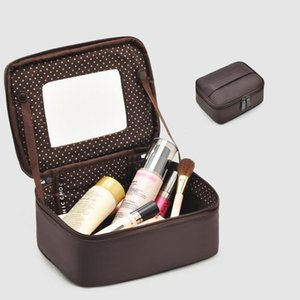2020 new solid color women's cosmetic bag storage bag make up box toiletry