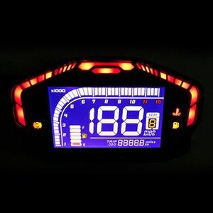 Motosiklet LCD Dijital Kilometre Kilometre sayacı RPM