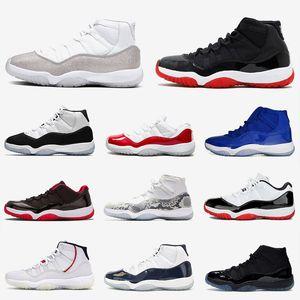 Nike Air Jordan 11 ETUI Retro New Bred 2019 Jumpman 23 Hommes Femmes Chaussures de basket-ball XII 11 11s Blue Legend Concord 45 formateurs UNC Sneakers