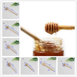 Beaucoup de style Honey Honey bâton Dippers accessoires de cuisine Mini Party en bois alimentation cuillère bâton miel pot bâton A424