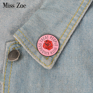 Pink Rose Emaille Pin 1D One Direction Harry Styles Abzeichen Brosche Anstecknadel für Denim Jeans Hemd Tasche Schmuck Geschenk für Fans Freund