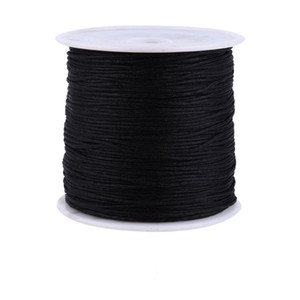 100M x 0.8mm Nylon Chinese Knot Cord Rattail Macrame Shamballa Thread String Black Red