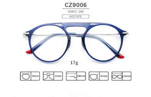 Más caliente de calidad de la marca unisex jóvenes vidrios ópticos redondos 50-21-145 para gafas graduadas de la moda del ornamento de la fábrica al por mayor