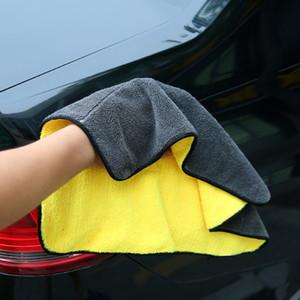 5pcs Autopflege Polier waschen Handtücher Plüsch Mikrofaser Waschen Trocknen Handtuch Starken Thick Plüsch Polyester-Faser Auto-Putztuch