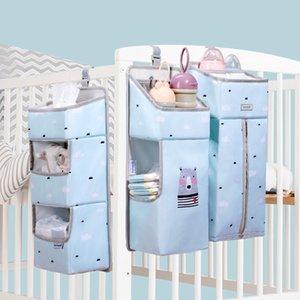 Portable Waterproof Baby Storage Organizer Crib Hanging Storage Bag Caddy Organizer for Baby Essentials Bedding Set Diaper Bag