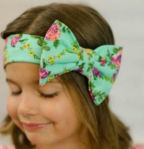 14colors Çocuk Bebek Big Bow Kemer Çocuk Baskı Çiçek Bantlar Bohemian Başkanı Wrap Kız Çocuk Saç Aksesuarları RRA3228