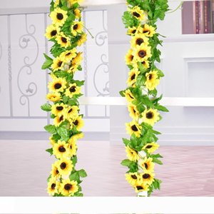 silk simulation daisy flower artificial sunflower hanging plant for Hanging Wedding Garland Wall Decor Home Garden Office Outside Decoration