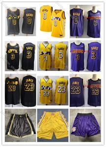 Mens LakersKobeBryant Jersey 2020 Men Youth 3 LakersAnthonyDavis 23# LeBron James 0# Kyle Kuzma Basketball Jersey01